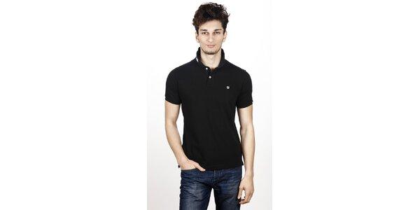 Pánske čierne polo tričko Hackett
