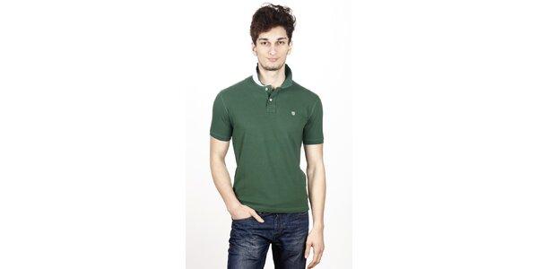 Pánske tmavo zelené polo tričko Hackett