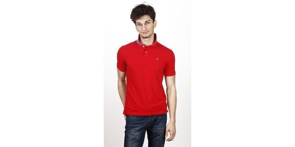 Pánske červené polo tričko Hackett