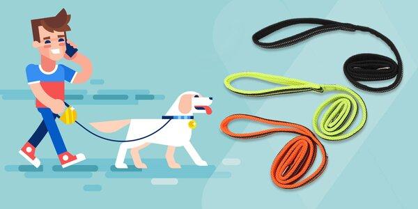 Reflexné vodítko pre psa True Love - na výber z troch farieb a 2 veľkostí