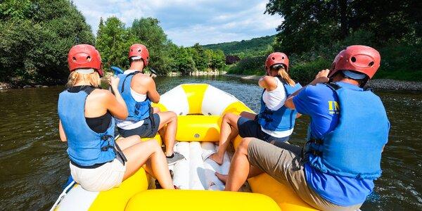 Splav rieky Dunaj z Hainburgu do Bratislavy v lete 2017