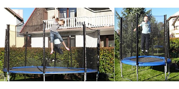 Trampolíny s rebríkom a sieťkou
