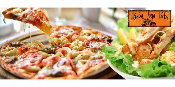 Pizza alebo šalát podľa vlastného výberu