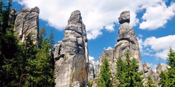 Skvelá turistika neďaleko Adršpašsko-Teplických skál