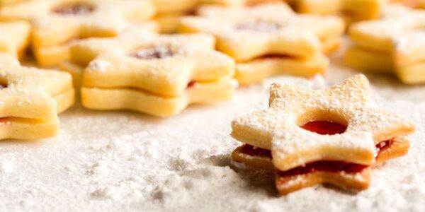 Tradičné linecké koláčiky, čajové pečivo alebo oškvarkové pagáče
