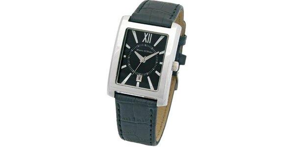 Pánske čierne hodinky Marc O´Polo s čiernym remienkom
