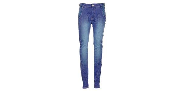 Dámske modré džínsy Exe
