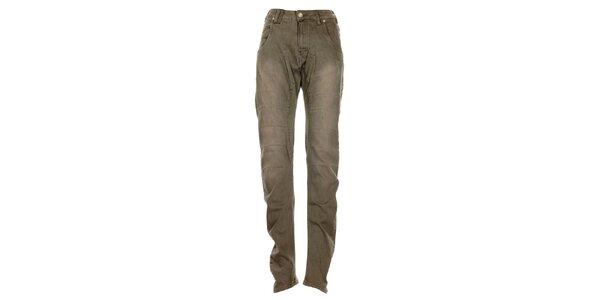 Dámske šedé džínsy s ľahko zníženým sedom Exe