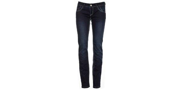 Dámske úzke tmavo modré džínsy Exe
