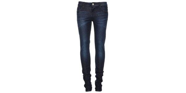 Dámske tmavo modré džínsy Exe