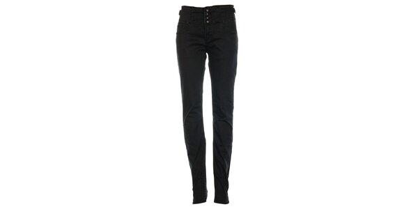 Dámske čierne džínsy s tromi gombíkami Exe