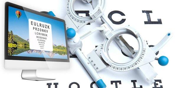 Vyšetrenie ostrosti zraku s výrobou okuliarov na počkanie v NC Bory Mall