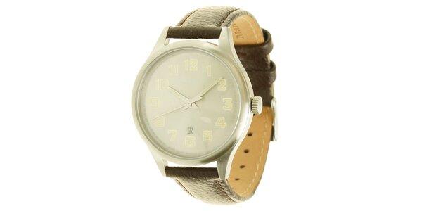 Pánske analogové hodinky s koženým remienkom Marc O´Polo