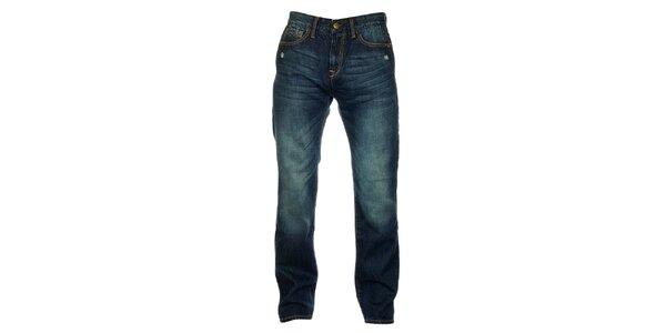 Pánske tmavo modré džínsy Exe