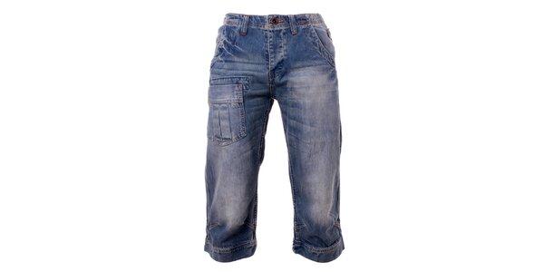 Pánske džínsové modré krátke nohavice Exe