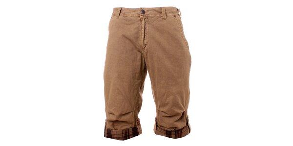 Pánske béžové šortky Exe