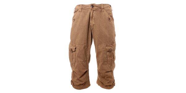Pánske béžové krátke nohavice Exe
