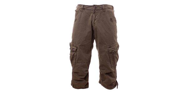 Pánske olivové krátke nohavice Exe