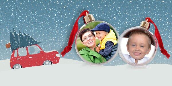 Originálna vianočná guľa s vlastnou fotografiou