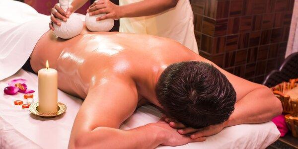 Aromaticky olejový masážný balík: 80-minútová celotelová antistresová a…