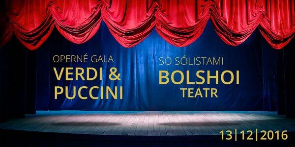 Vstupenka na operné vystúpenie BOLSHOI TEATR