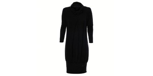 Dámske čierne naberané šaty Gas