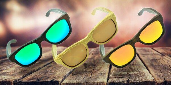 Štýlové drevené okuliare