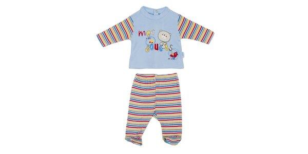 Detský modro-biely set nohavíc a trička Yatsi
