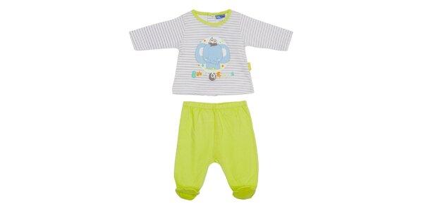 Detský limetkový set nohavíc a trička Yatsi