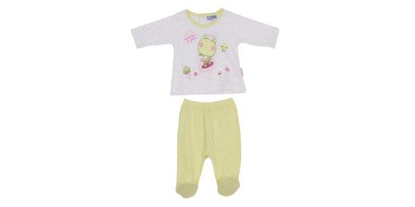 Detský pistáciový set nohavíc a trička Yatsi