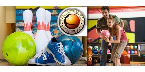 1,99 eur za hodinu bowlingu v skvelej reštaurácii Bowling Erika
