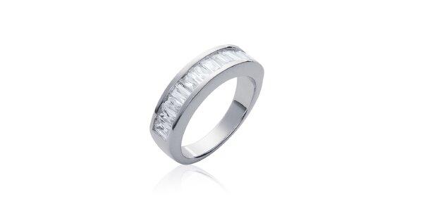 Dámsky strieborný prsteň s bielymi kameňmi La Mimossa