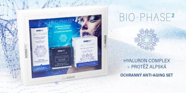 Darčeková kazeta BIO-PHASE2® s kyselinou hyalurónovou a protěží alpskou