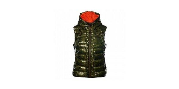Dámka tmavo zelená prešívaná vesta Northland Professional s metalickým odleskom