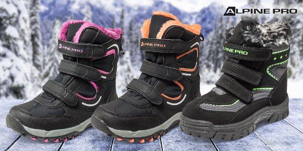 Zateplené nepremokavé detské topánky Alpine Pro