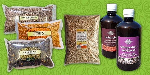 Zdravé maškrtenie: goji, semienka, oleje a kopec ďalších v chutných balíčkoch!