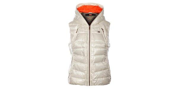 Dámka biela prešívaná vesta Northland Professional s metalickým odleskom