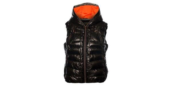 Dámka tmavo hnedá prešívaná vesta Northland Professional s metalickým odleskom