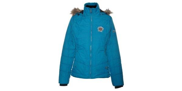 Dámka tyrkysovo modrá bunda Northland Professional s kožušinkou