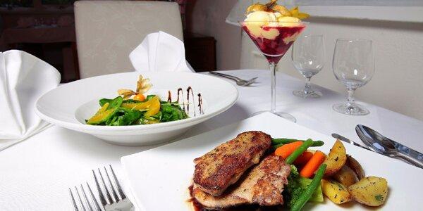Otvorený voucher na konzumáciu jedla a nápojov v luxusnej reštaurácii ***…