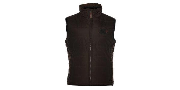 Pánska tmavo hnedá prešívaná vesta Northland Professional