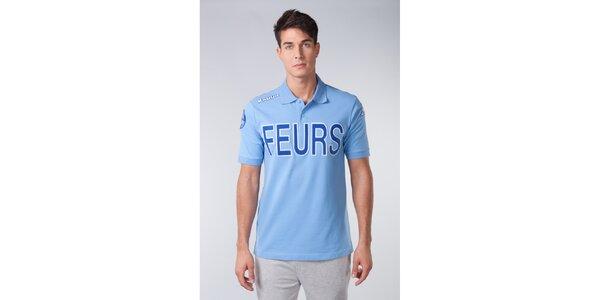 Pánske modré pólo tričko s modrým nápisom Kappa