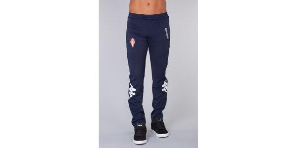 Pánske tmavo modré športové nohavice Kappa