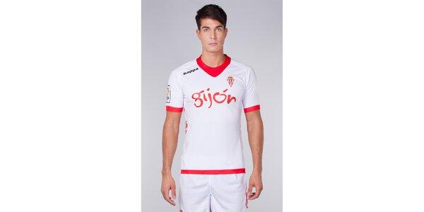 Pánske červeno-biele tričko s potlačami Kappa