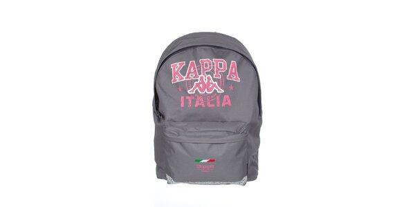 Šedo-červený batoh s potlačou Kappa