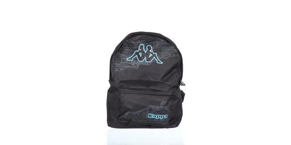 Čierno-šedý batoh s potlačou Kappa