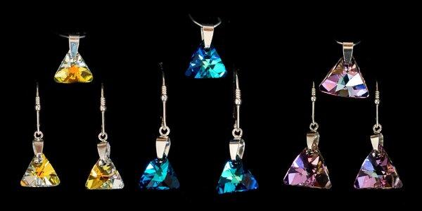 Strieborná súprava Embellished Crystals from Swarovski