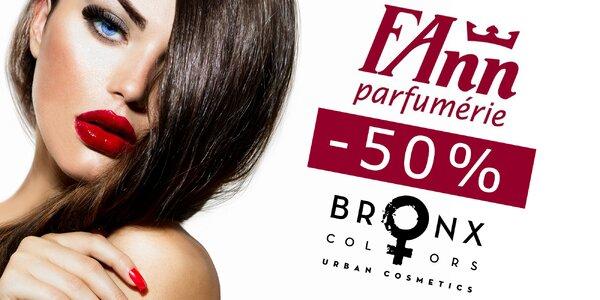 50 % zľava na nákup produktov dekoratívnej kozmetiky BRONX COLORS