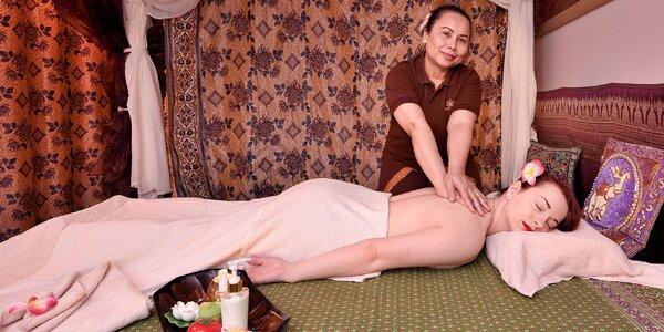 Relaxačná thajská olejová masáž chrbta a nôh
