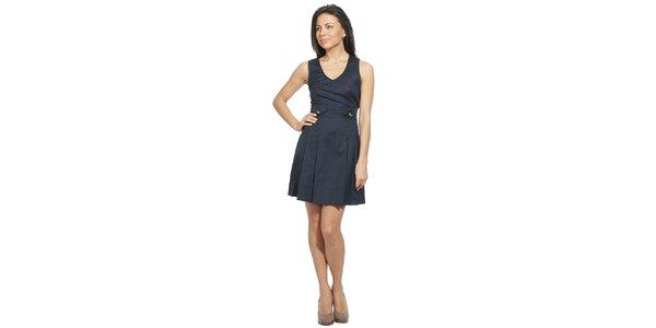 Dámske temne modré šaty s vreckami Red Valentino